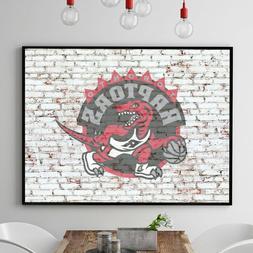 TORONTO RAPTORS  NBA Team Logo on Brick Wall Home Art Decor