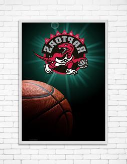 "TORONTO RAPTORS NBA Team LOGO Print Wall Home Art Decor 24""x"