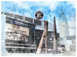 Toronto Raptors Poster Architectural Design Art Print Man Ca
