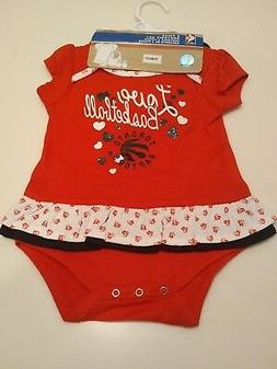 Toronto Raptors Red Little Girl Sweet Bib Booties  Bodysuit