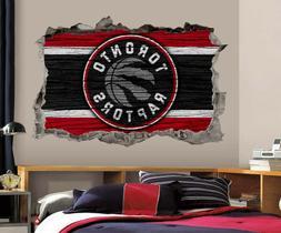 Toronto Raptors Wall Art Decal 3D Smashed Basketball NBA Wal