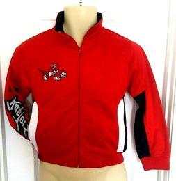 Toronto Raptors Youth Jacket Size Small Track Style Coat Emb