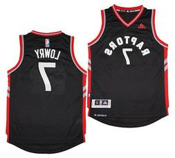 Youth Kyle Lowry #7 Toronto Raptors NBA Adidas Black/Red Swi